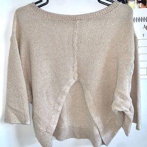 Open Back Free People Loose Sweater